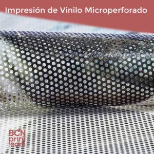 Impresión Vinilo Adhesivo Microperforado